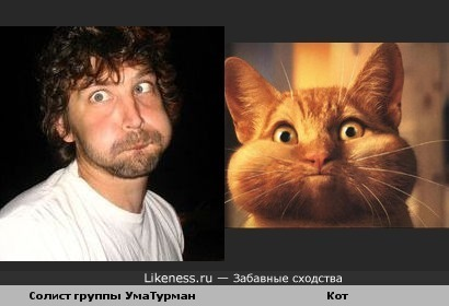 Солист УмаТурман похож на щекастого котика)))