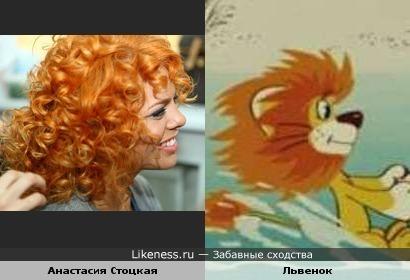 Стоцкая с этой прической похожа на львенка))