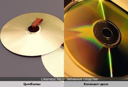 музыкальный инструмент напомнил мне компакт-диск