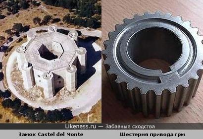 Замок в Италии напоминает какую-то шестерню))