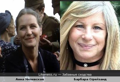 Анна Милевская напомнила Барбару Стрейзанд