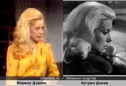 Марина Дорель напоминает Катрин Денев