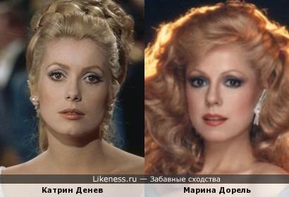 Катрин Денев и Марина Дорель. Вариант №3