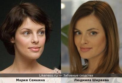 На некоторых фото Ширяева напоминает Семкину