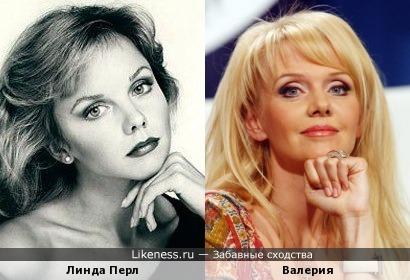 Линда Перл на этом фото очень похожа на певицу Валерию