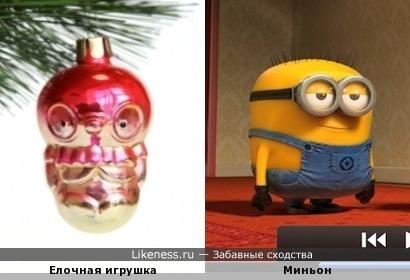 """Елочная игрушка и персонаж мультфильма """"Гадкий я - 2"""""""