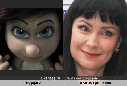 Мультперсонаж и Нонна Гришаева