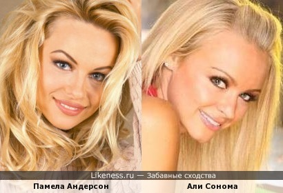 Али Сонома и Памела Андерсон