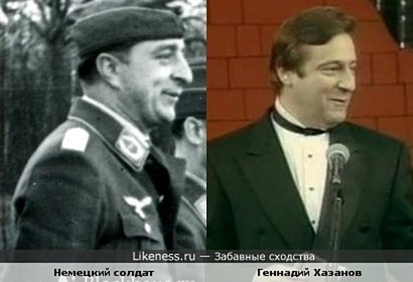 солдат похож на Хазанова