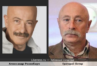 Александр Розенбаум похож на Григория Остера