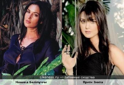 Индийская актриса Прити Зинта и Моника Беллуччи