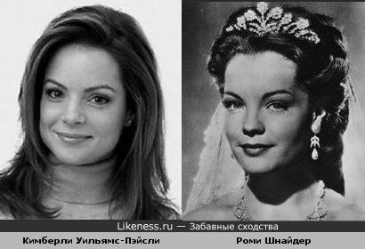 Кимберли Уильямс-Пэйсли похожа на Роми Шнайдер в юности