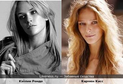 """Кэйлин Рондо (""""Топ-модель по-американски"""") похожа на супермодель Кармен Касс"""