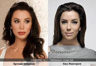 Мисс США 1997 Брэнди Шервуд и Ева Лонгория похожи