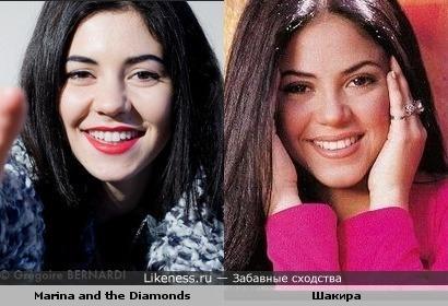 Марина Диамандис (Marina and the Diamonds) и Шакира похожи