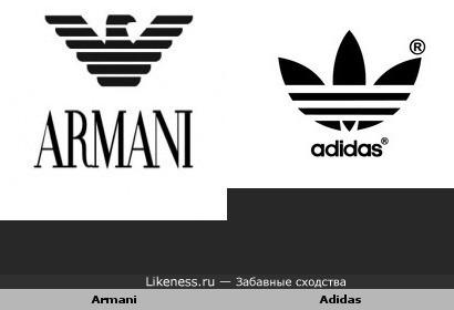 Логотипы двух брендов одежды похожи