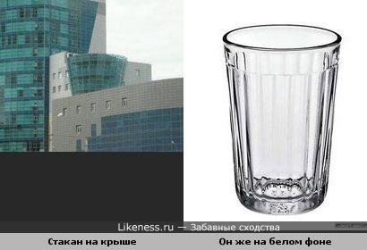 Огромный гранёный стакан в центре Тюмени