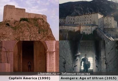 """Кадры из фильмов """"Капитан Америка"""