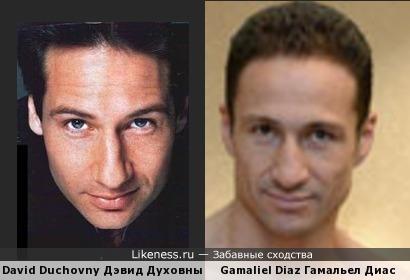 Гамальел Диас похож на Дэвида Духовны