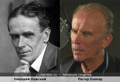 Питер Уэллер похож на Николая Невского