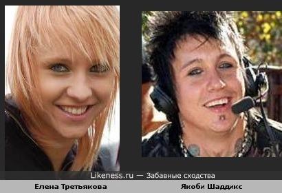 Елена Третьякова (Ранетки) и Якоби Шаддикс (Papa Roach)
