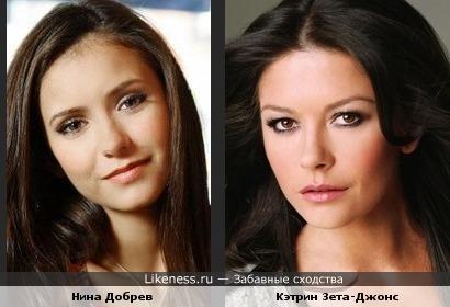 Дочки-матери: Нина Добрев и Кэтрин Зета-Джонс