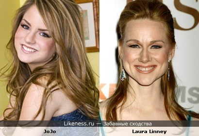 Laura Linney and JoJo