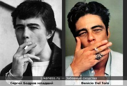 Сергей Бодров младший похож на Benicio Del Toro-2