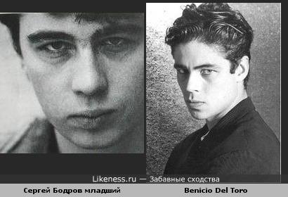 Сергей Бодров младший похож на Benicio Del Toro