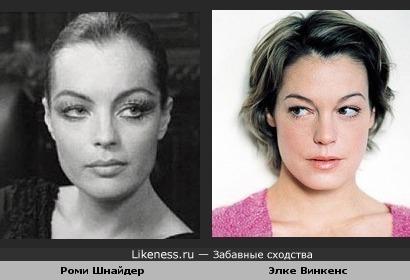 Две австрийские актрисы: Роми Шнайдер и Элке Винкенс