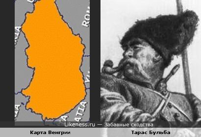 Карта Венгрии напоминает Тараса Бульбу