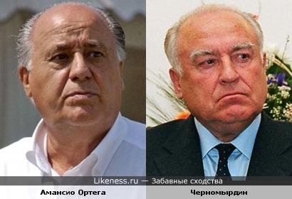 Испанский миллиардер Амансио Ортега и Черномырдин