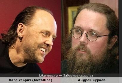 Ларс Ульрих (Metallica) и Андрей Кураев