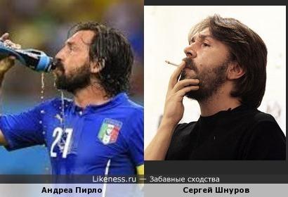 Футболист сборной Италии Андреа Пирло и Сергей Шнуров