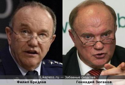 Главком НАТО Филип Бридлав и Геннадий Зюганов