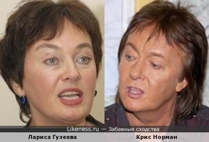 Лариса Гузеева и Крис Норман