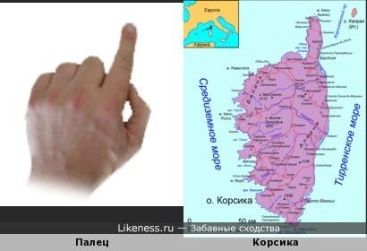 Палец и остров Корсика
