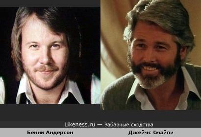"""Бенни Андерсон(""""АББА"""") и Джеймс Смайли (""""Возвращение в Эдем"""")"""
