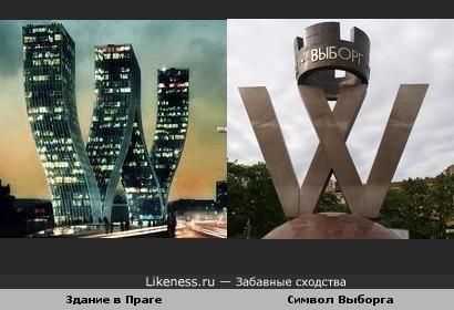 Оба объекта созданы в форме буквы W