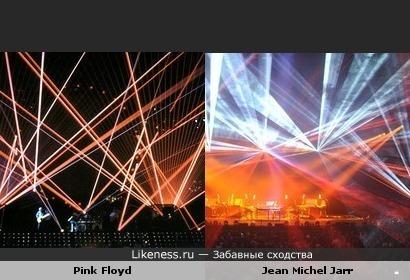 Стили выступлений группы Пинк Флойд и Жана -Мишеля Жарра похожи