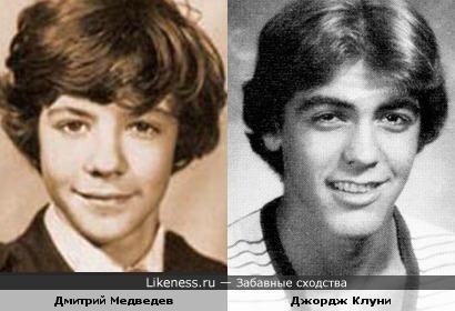 Дмитрий Медведев и Джордж Клуни