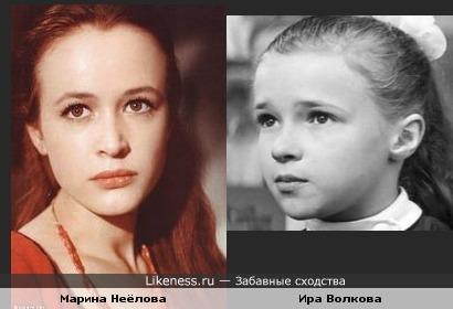 """Ира Волкова(""""Ох, уж эта Настя!"""") и Марина Неёлова"""