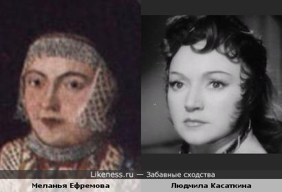 Меланья Ефремова напомнила Людмилу Касаткину в образе
