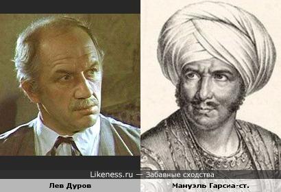 Лев Дуров и Мануэль Гарсиа-ст.
