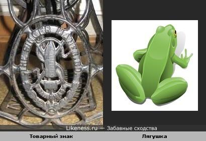"""Изображение на бабушкиной швейной машинке """"Зингер"""" ,в детстве напоминало мне лягушку"""