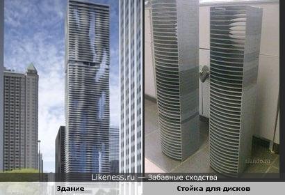 """""""Башня воды"""" в Чикаго напоминает стойку для дисков"""