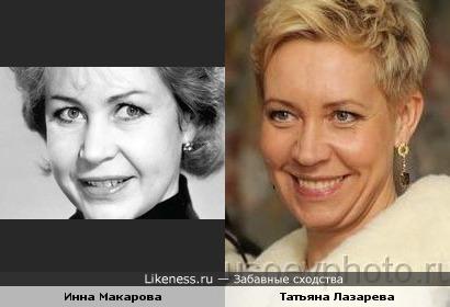 Инна Макарова и Татьяна Лазарева