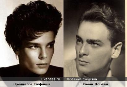 Принцесса Стефания и актёр Хайнц Ользен