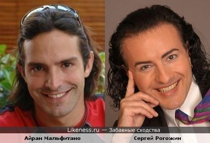 Актёр Айран Мальфитано похож на певца Сергея Рогожина