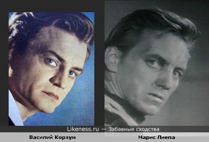 Василий Корзун в роли Гамлета и Марис Лиепа